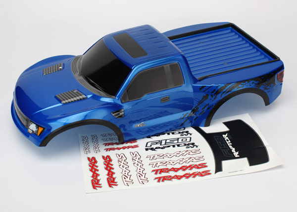 Body, Ford Raptor®, blue (painted, decals applied)