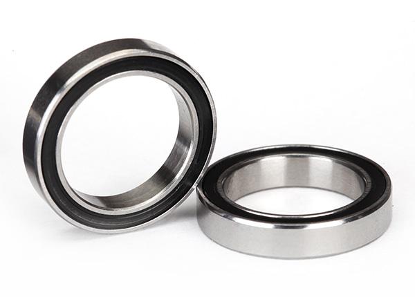Ball bearings, black rubber sealed (15x21x4mm) (2)
