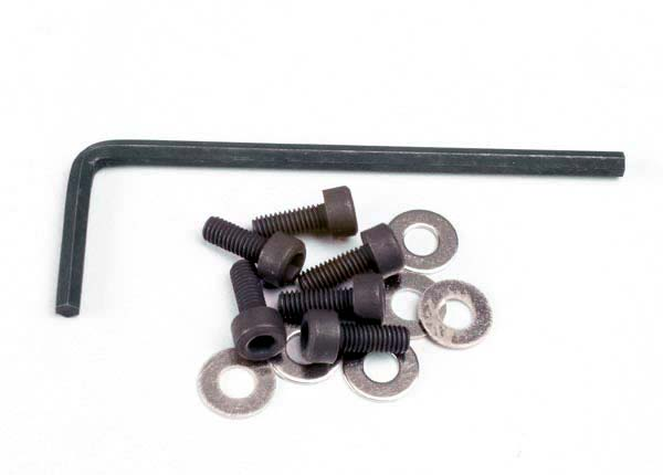 Backplate screws (3x8mm cap-head machine) (6)/washers (6)/ wrench