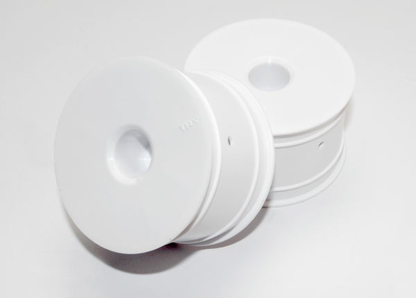 """Wheels, dished 2.2"""" (white) (2)"""