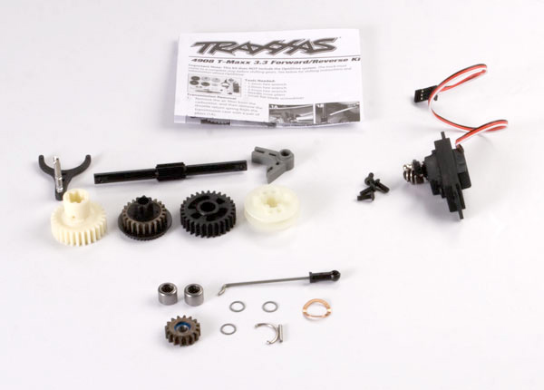 Reverse installation kit (includes all components to add mechanical reverse (no Optidrive) to T-Maxx 3.3) (includes 2060 sub-micro servo)