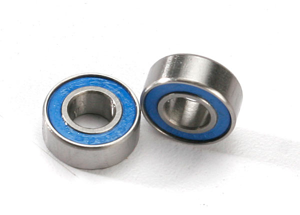 Ball bearings, blue rubber sealed (6x13x5mm) (2)