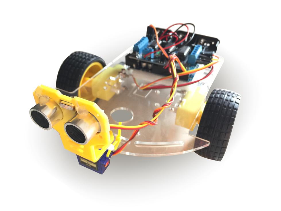 ชุดประกอบรถหลบสิ่งกีดขวาง (Arduino Avoiding Robot Car)