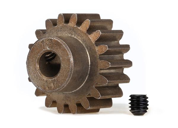 Gear, 18-T pinion (1.0 metric pitch) (fits 5mm shaft)/ set screw
