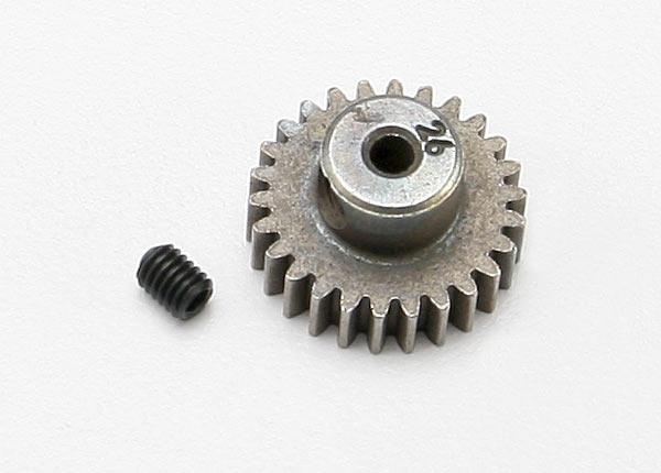Gear, 26-T pinion (48-pitch, 2.3mm shaft)/ set screw