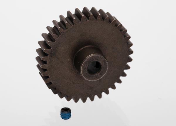 Gear, 34-T pinion (1.0 metric pitch) (fits 5mm shaft)/ set screw