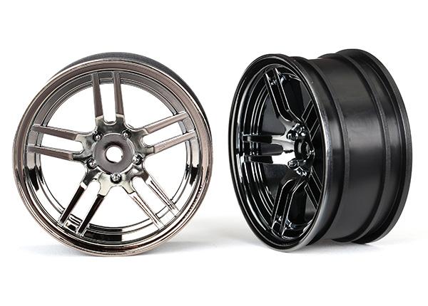 "Wheels, 1.9"" split-spoke (black chrome) (front) (2)"
