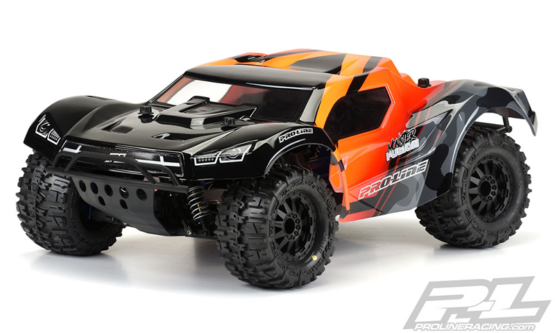 """Pre-Cut Monster Fusion Clear Body for Slash 2wd & Slash 4x4 with 2.8"""" MT Tires"""