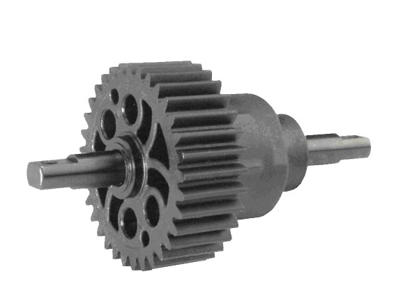 Differential kit, center (complete for E-Revo & E-Maxx (model 3905)) (assembled with 500K oil) (use only with single speed transmission)