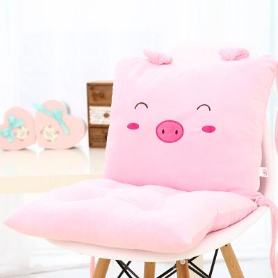 เบาะรองนั่ง ลายหมูน้อยยิ้มใส สีชมพู