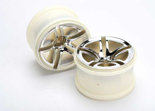 "Wheels, Twin-Spoke 2.8"" (chrome) (nitro front) (2)"