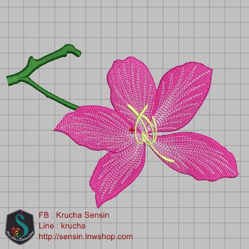 บล็อคปักดอกชงโค
