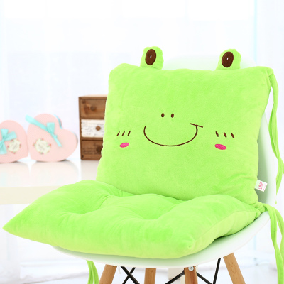 เบาะรองนั่ง ลายกบน้อยยิ้มแป้น สีเขียว
