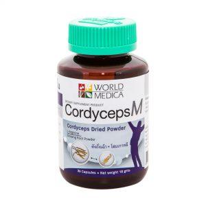 CordycepsM ถั่งเช่าสกัดผสมโสม ถั่งเฉ้าแท้ บรรจุ 36 แคปซูล