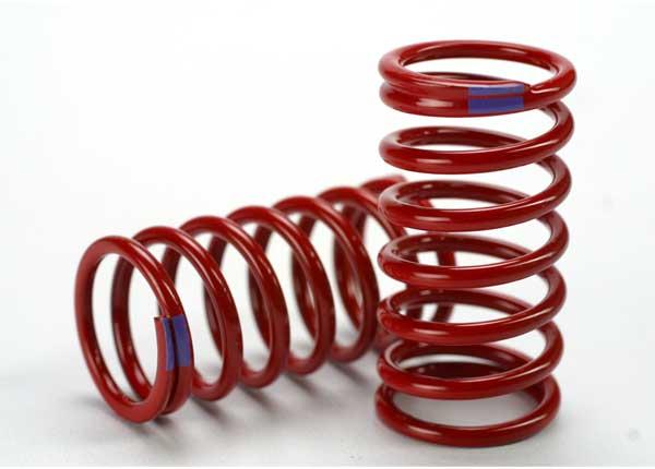 Spring, shock (red) (GTR) (6.4 rate purple) (1 pair)