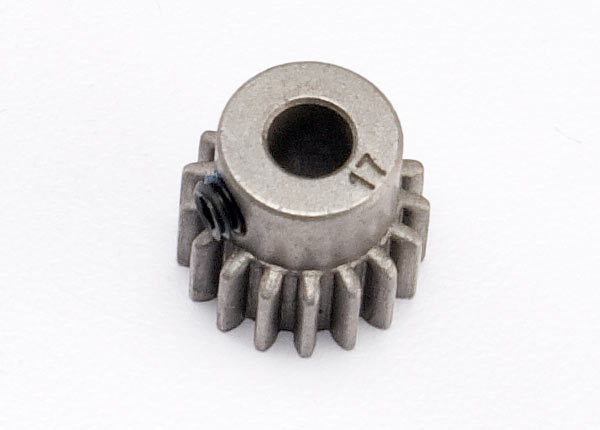 Gear, 17-T pinion (0.8 metric pitch, compatible with 32-pitch) (fits 5mm shaft)/ set screw