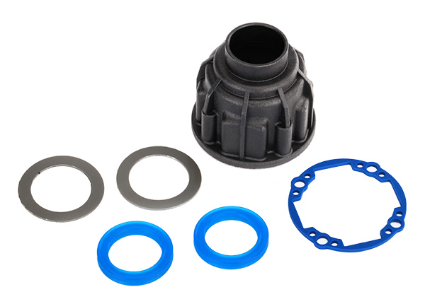 Carrier, differential (front or center)/ x-ring gaskets (2)/ ring gear gasket/ 14.5x20 TW (2)