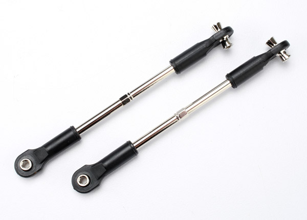 Turnbuckles, toe links, 72mm (2) (assembled with rod ends and hollow balls)