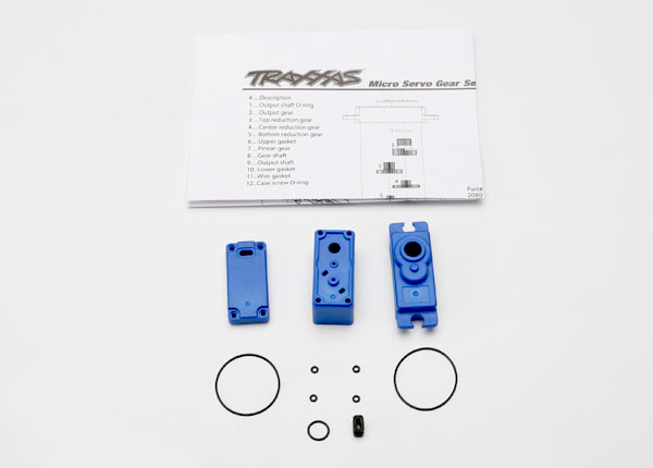 Servo case/ gaskets (for 2080 micro waterproof servo)