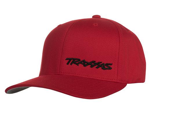 Traxxas Logo Flexfit Curve Bill Hat Red/Black