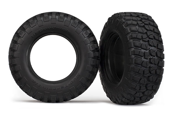 "Tires, BFGoodrich® Mud-Terrain T/A® KM2 , ultra-soft (S1 off-road racing compound) (dual profile 4.3x1.7- 2.2/3.0"") (2)/ foam inserts (2)"