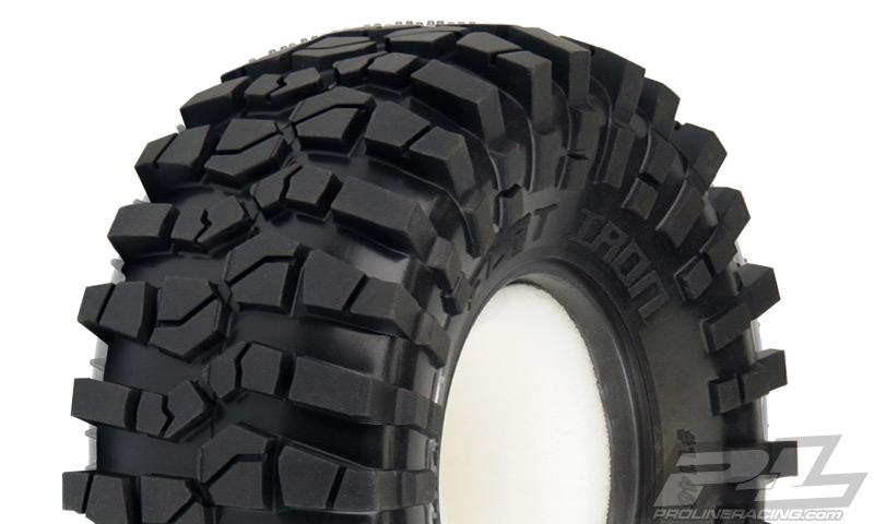 "Flat Iron 2.2"" M3 (Soft) Rock Terrain Truck Tires w/Memory Foam for Front or Rear 2.2"" Crawler"