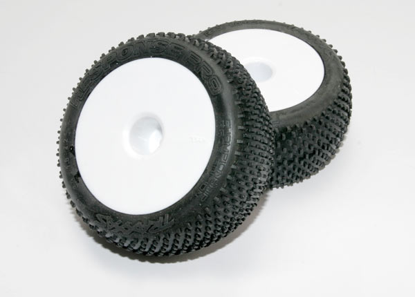 """Tires & wheels, assembled, glued (white dished 2.2"""" wheels, Response Pro 2.2"""" tires, foam inserts) (2)"""