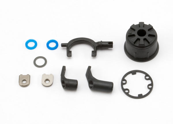Carrier, differential (heavy duty)/ differential fork/ linkage arms (front & rear)/x-ring gaskets (2)/ ring gear gasket/ bushings (2)/ 6.5x10x0.5 TW