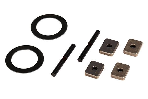 Spider gear shaft (2)/ spacers (4)/ 16x23.5x.5mm TW (2)