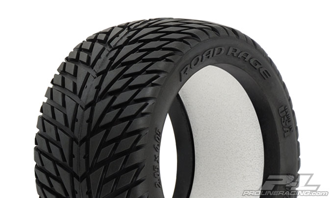"Road Rage 2.8"" (Traxxas Style Bead) Street Truck Tires for 2.8"" Traxxas Style Bead Wheels Front or Rear"