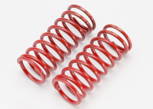 Spring, shock (red) (long) (GTR) (5.4 rate double orange stripe) (1 pair)
