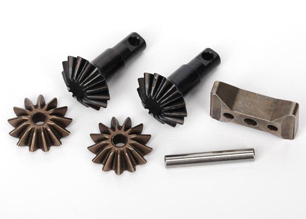Gear set, differential (output gears (2)/ spider gears (2)/ spider gear shaft, carrier support)