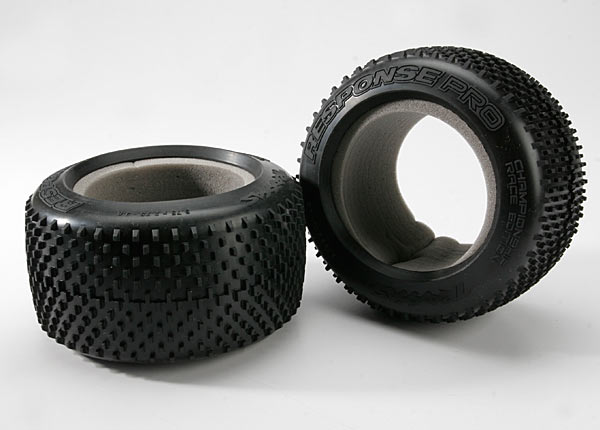 "Tires, Response Pro 3.8"" (soft-compound, narrow profile, short knobby design)/ foam inserts (2)"
