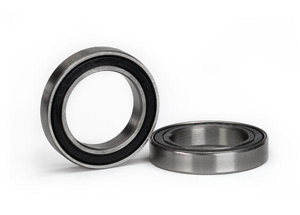 Ball bearing, black rubber sealed (15x24x5mm) (2)