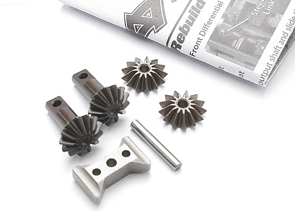 Gear set, differential (output gears (2)/ spider gears (2)/ spider gear shaft/ diff carrier support)