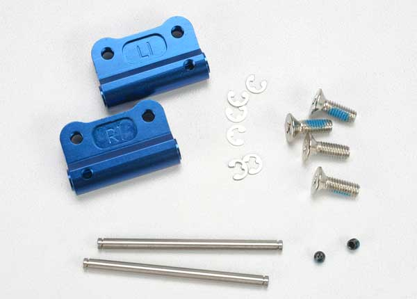 Mounts, suspension arm (blue-anodized 6061-T6 aluminum)(rear)(+/- 1-degree)(L&R)