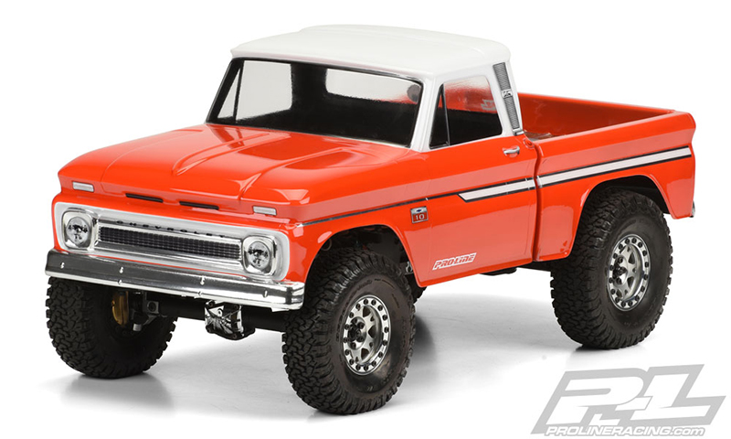 """1966 Chevrolet C-10 Clear Body (Cab & Bed) for SCX10 Trail Honcho 12.3"""" (313mm) Wheelbase"""