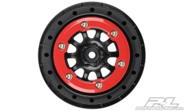 "ProTrac Suspension Kit Renegade 2.2""/3.0"" Red/Black Bead-Loc Wheels"