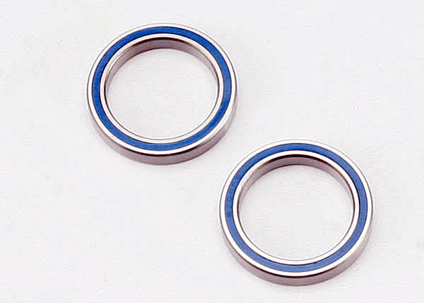 Ball bearings, blue rubber sealed (20x27x4mm) (2)