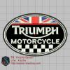 บล๊อคปักอาร์ม Triumph1-พื้นผ้าดำ