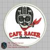 บล๊อคปัก CAFE RACER-พื้นผ้าขาว