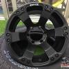 ล้อแม็กซ์ใหม่ Zeus Z12 สีดำด้าน ขนาด 8.5-16นิ้ว 6รู139 ET0 cb106 สำหรับรถกระบะ