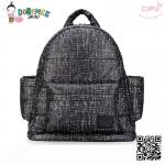 CiPU BACKPACK - BLACK TWEED-(Size S : W11.5 x L26x H28 cm.)