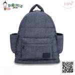 CiPU BACKPACK - DENIM BLUE-(Size M : W13 x L35x H37 cm. / สายเป้ยาว 42-74cm)