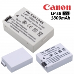 แบตเตอรี่กล้อง Canon LP E8 Li-ion Battery LP-E8 LPE8 1800mAh for Canon 550D 600D 650D 700D Camera