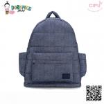 CiPU BACKPACK - DENIM BLUE-(Size L : W17 x L37x H43/ สายเป้ยาว 49-78cm)
