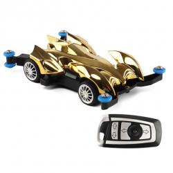 รถบังคับวิทยุขนาดเล็ก (สีทอง) บังคับรีโมท 2.4 ขนาด 1:43 เล่นได้นานกว่า 15 นาที พร้อมสายชาร์ต USB พร้อมเล่นทันที แข่งกับเพื่อนได้