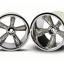 "TRX Pro-Star chrome wheels (2) (rear) (for 2.2"" tires)"