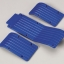 Three Pc.Skid/Wear Plate Set (Blue) fits all versions of the Traxxas T/E Maxx Ft,Rr, & Center w/ Metric Hardware