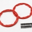 Sidewall protector, beadlock style (red) (2)/ 2.5x8mm CS (24) (for use with Geode wheels)